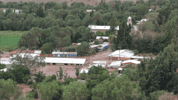 Gobierno chileno decreta estado de catástrofe por intensas lluvias