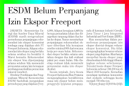 ESDM has not extended Freeport's export permit