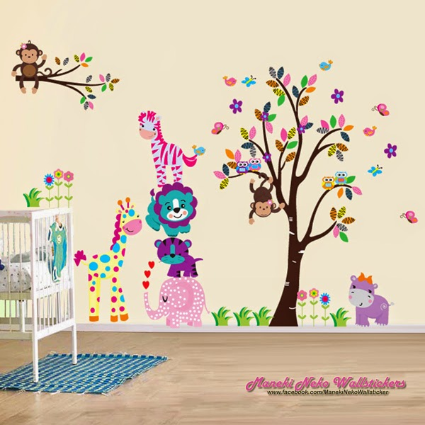 wall sticker transparant 2in1 jumbo - maneki neko wallstickers