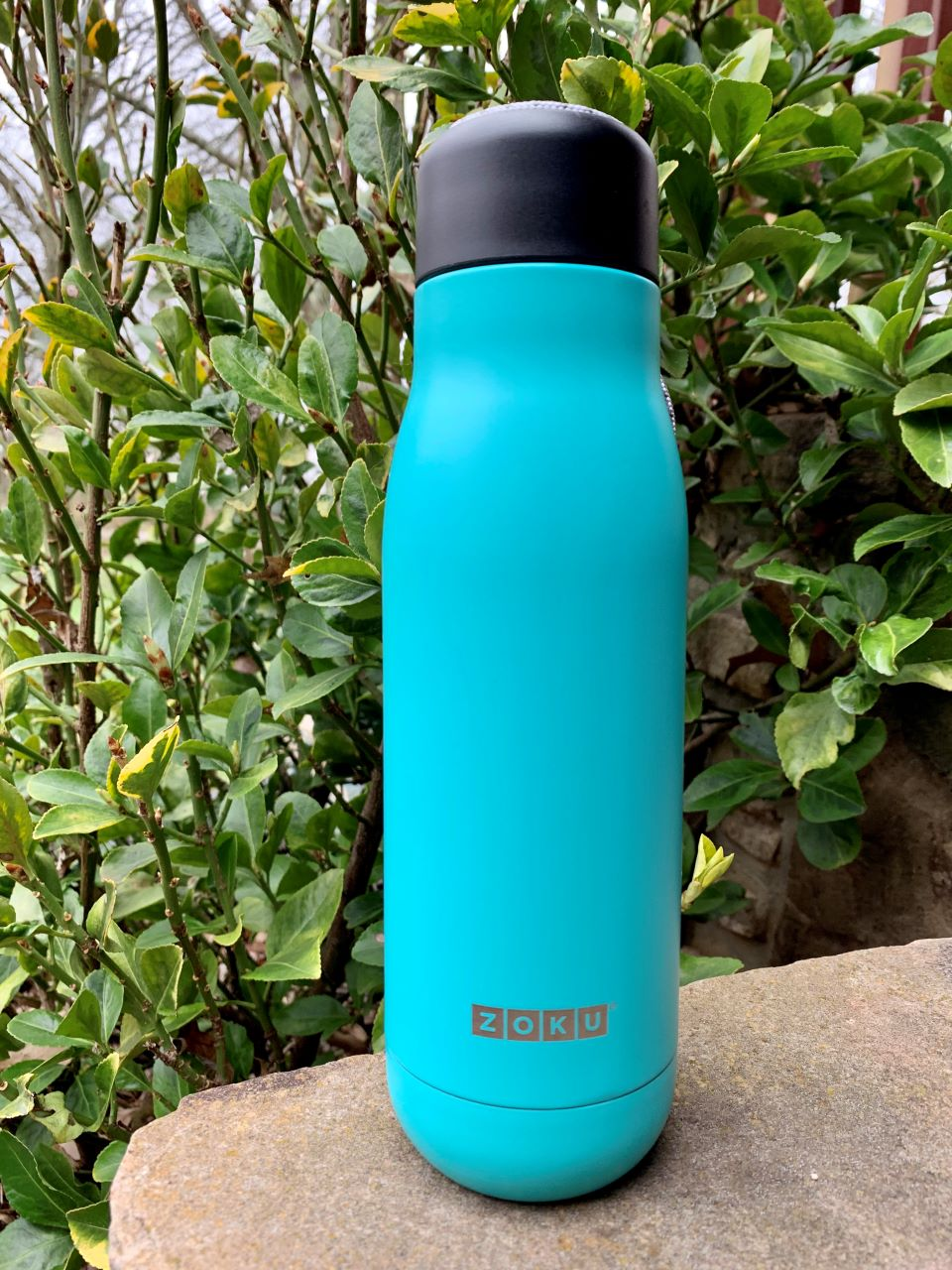 Zoku Insulated stainless steel water bottle makes brings water easy