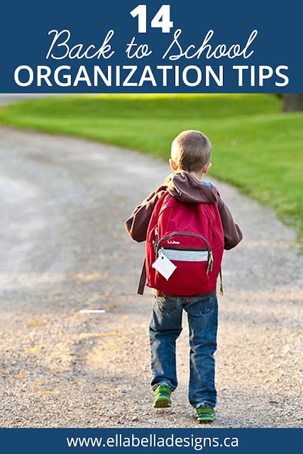 Boy wearing backpack back to school organization tips