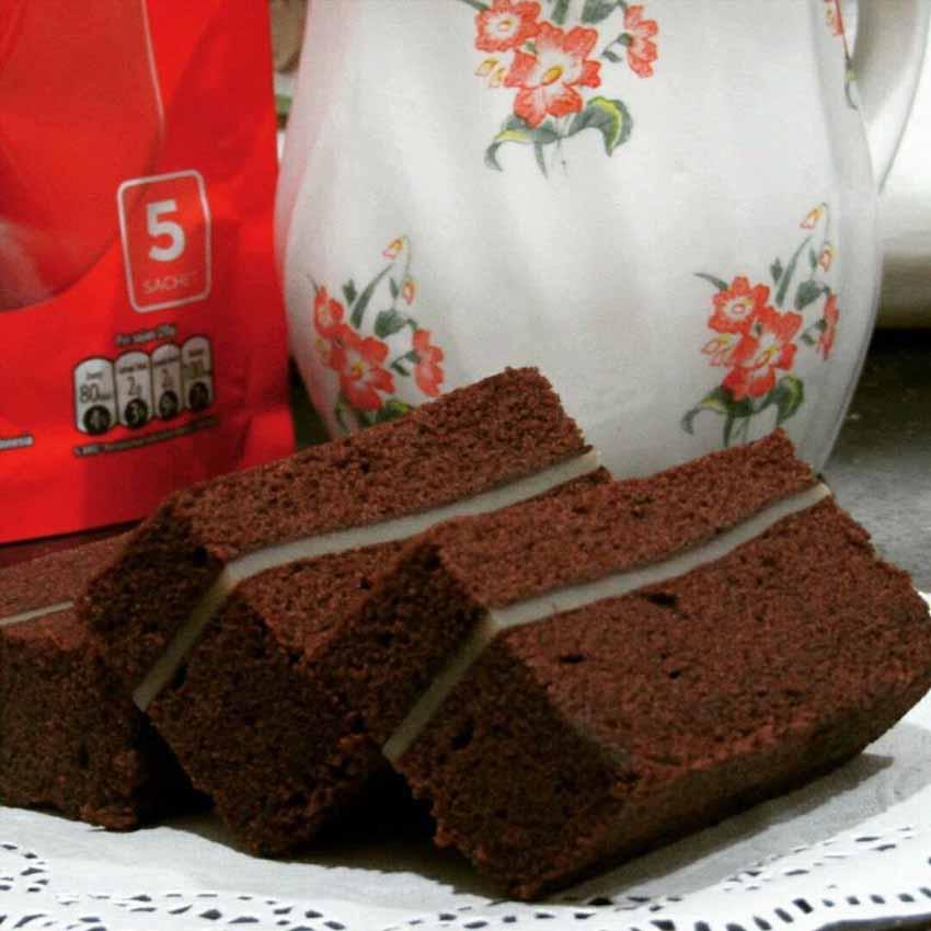 Resep Brownies Kukus Lapis Keju
