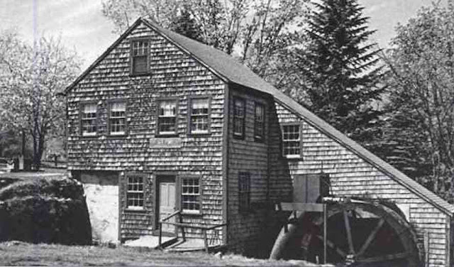 Fulling Mill, 1638, Rowley, Massachusetts, postcard