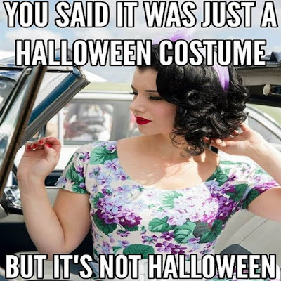 It is not yet Halloween - Sissy TG Caption