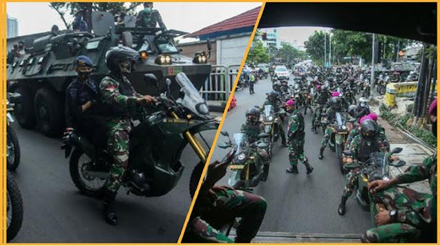 Konvoi Panser TNI di Sekitar Markas FPI Petamburan, Warga: Kami Khawatir