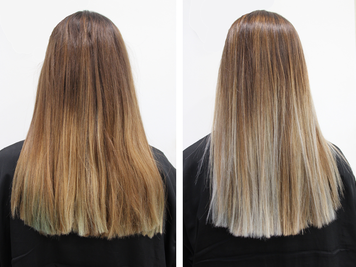 El blog de esther palma mechas californianas granny hair for Como blanquear cortinas