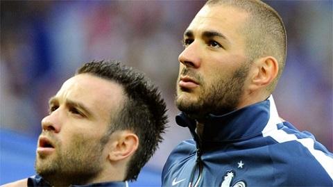 Valbuena và Benzema trong màu áo tuyển Pháp