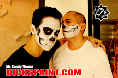 make up horror skeleton jakarta