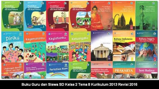 Buku Guru dan Siswa SD Kelas 2 Tema 8 Kurikulum 2013 Revisi 2016