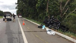 Morre mais uma vítima do acidente envolvendo dois carros na BR-101