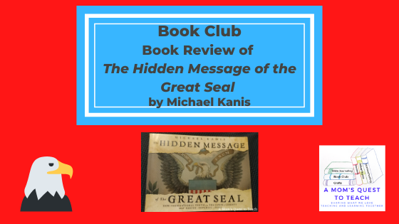 eagle clipart; bookcover of The Hidden Message of the Great Seal; A Mom's Quest to Teach Logo