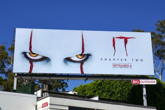 IT Chapter Two movie billboard