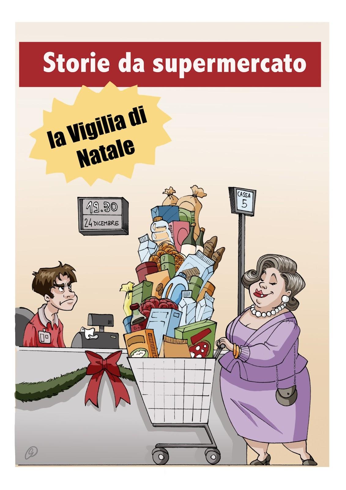 """""""Storie da supermercato - La vigilia di Natale"""" di Valentina Gerini, illustrazione di Giorgia Catelan"""