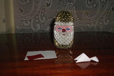 3d origami santa claus