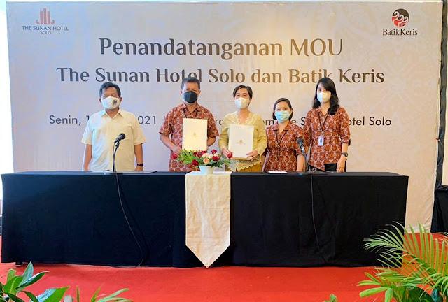 Jalin Kesepakatan dengan Batik Keris, The Sunan Hotel Solo Beri Harga Khusus