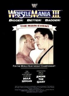 WWF / WWE WRESTLEMANIA 3 EVENT POSTER