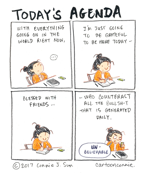 journal comic, diary comic, sketchbook illustration, by connie sun, cartoonconnie