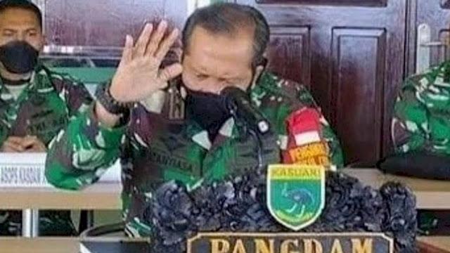 Panas! Pangdam Kasuari Gebrak Meja, Minta Pembunuh 4 Anggota TNI Ditangkap Hidup atau Mati