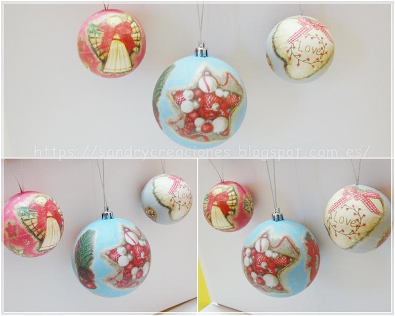 Bola De Porex Decoradas De Navidad