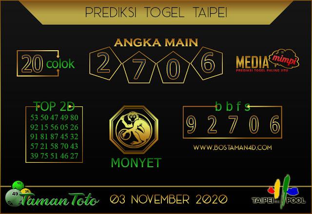 Prediksi Togel TAIPEI TAMAN TOTO 03 NOVEMBER 2020