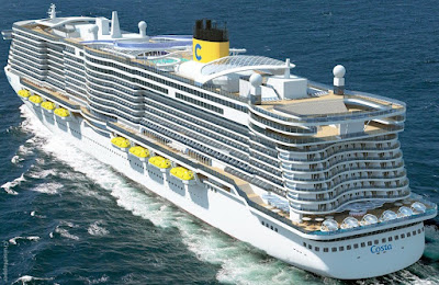 The Keel is Laid For Costa Cruises Latest Ship - the Costa Toscana - a Meyer Werft Turku Finland Shipyard