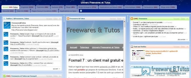 Univers Netvibes de Freewares & Tutos mis à jour
