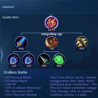 penjelasan lengkap item mobile legends item endless battle