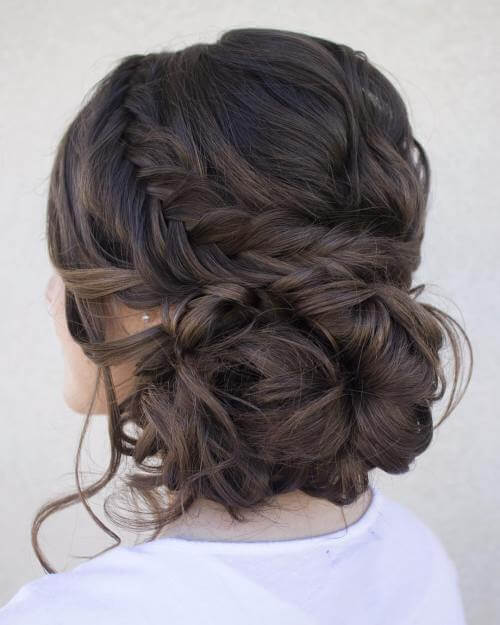 loose low, new style ,pridesmaid updos for long