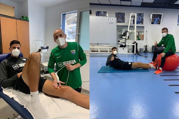Málaga, Pablo Chavarría muestra fotos del avance de su recuperación