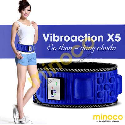 Đai mát xa giảm mỡ bụng x5 giúp giảm mỡ bụng