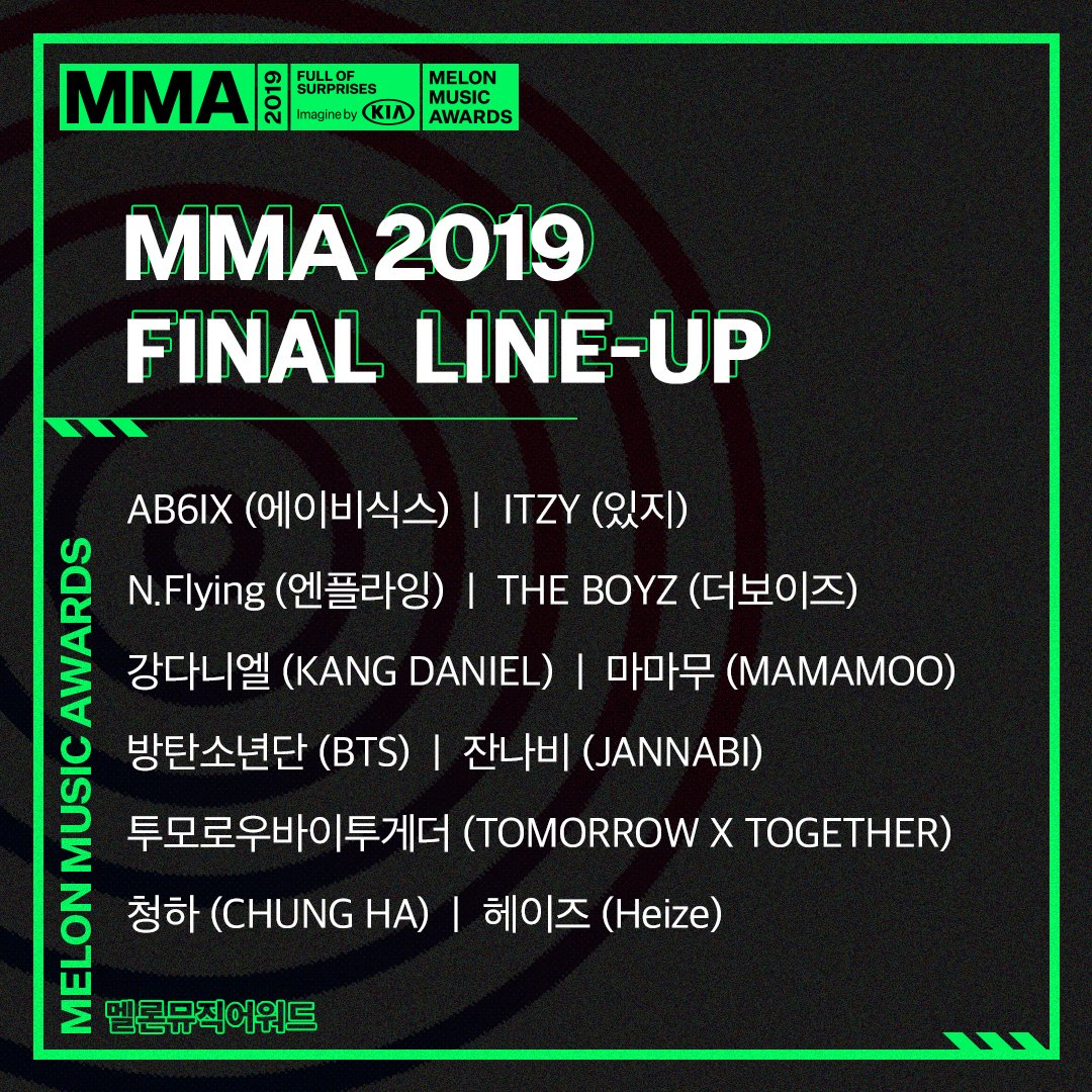 '2019 MMA' Reveals the Last Line Up of Artists To Be Present