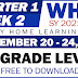 UPDATED! Weekly Home Learning Plan (WHLP) Quarter 1: WEEK 2 (All Grade Levels)