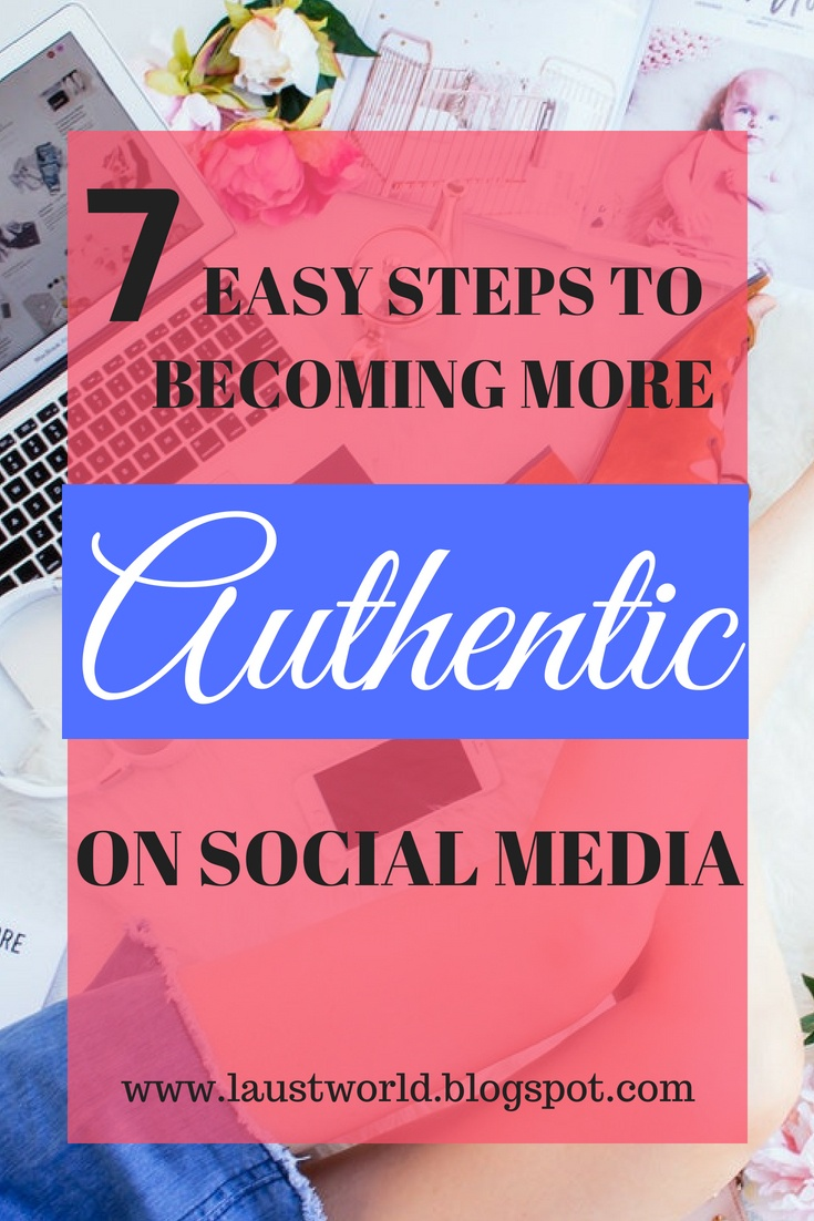pinterest image that says how to become more authentic on social media