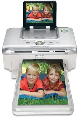 Print existent Kodak pictures from pop retention cards  Kodak Easyshare Photo Printer 500 Firmware