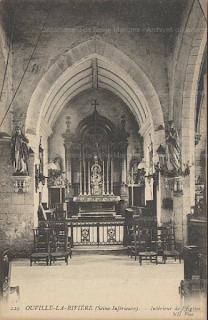 Eglise d'Ouville-la-Rivière CPA AD76