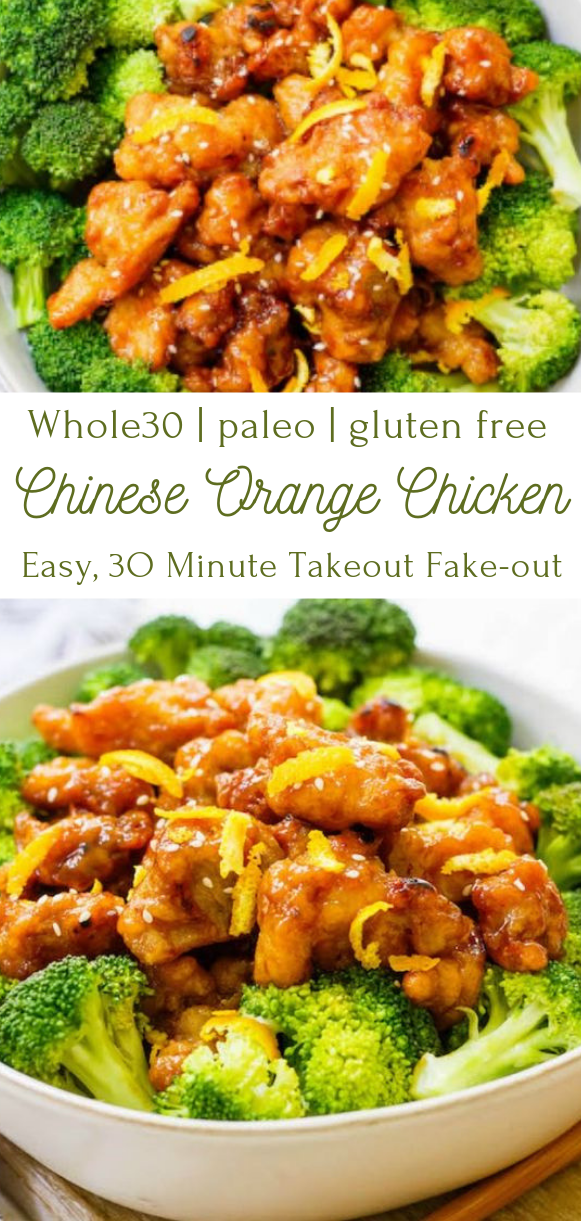 Easy Whole30 Chinese Orange Chicken  #food #healthydinner
