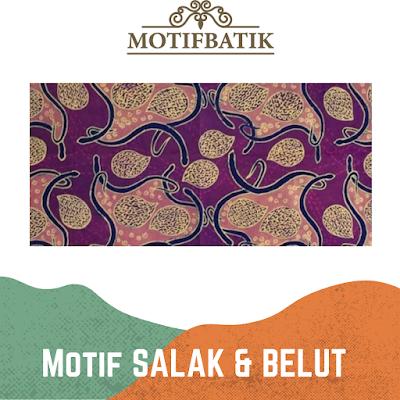 Motif Batik Belut dan Salak