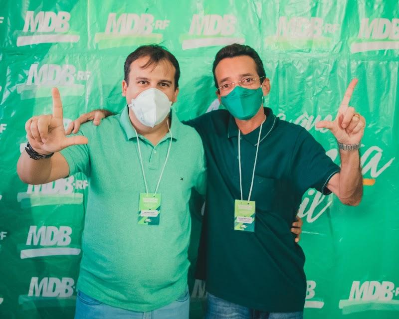 Convenção do MDB em Rodolfo Fernandes,  homologa nome de Lilito Monteiro candidato a prefeito, Flávio de Tico para vice prefeito e candidatos a vereadores