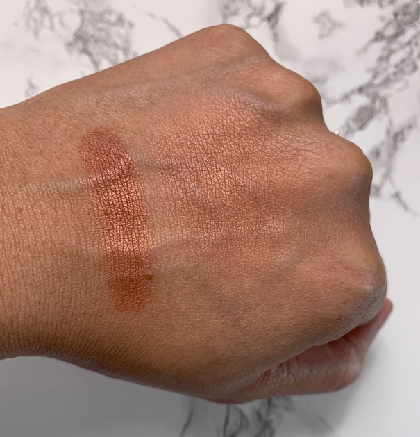 NARS Powder Blush Savage swatches on dark skin