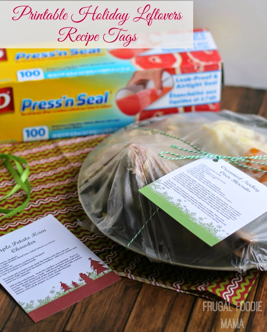 Send your guests home with dinner & party leftovers & tasty recipe ideas too with these free Printable Holiday Leftovers Recipe Tags.