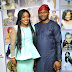 Photogist: Helen Paul Glows As Her Husband Steps Out With Her At The Premiere Of Her Movie