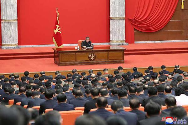 Kim Jong Un at WPK 8th CC 1st Plenum, January 10, 2021