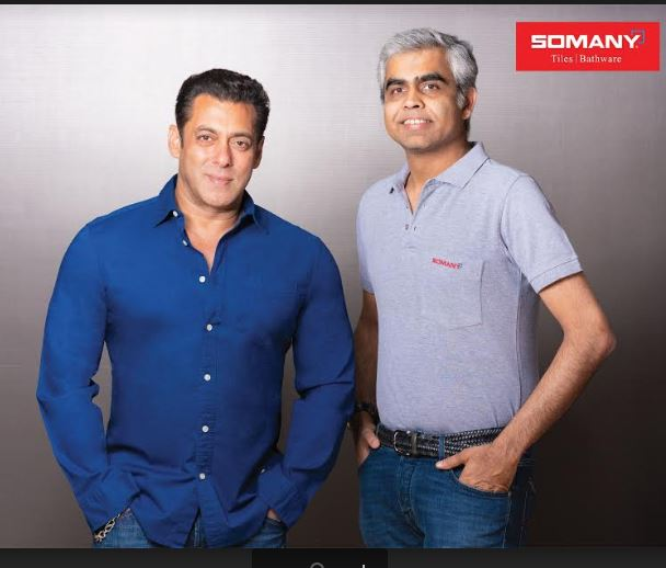 SOMANY CERAMICS ANNOUNCES SALMAN KHAN AS BRAND'S FACE