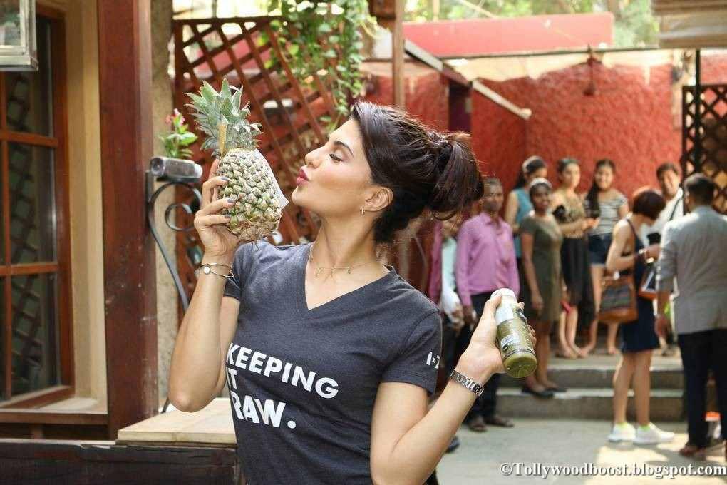Model Jacqueline Fernandez At Rakyan Beverages Event In Blue