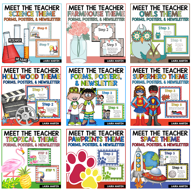 Meet the teacher editable templates and  ideas for a successful Open House or Back to School night.
