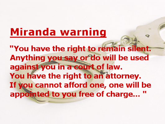 the phrases of miranda rights Full-text paper (pdf): spanish translations of miranda warnings and the totality of the circumstances.