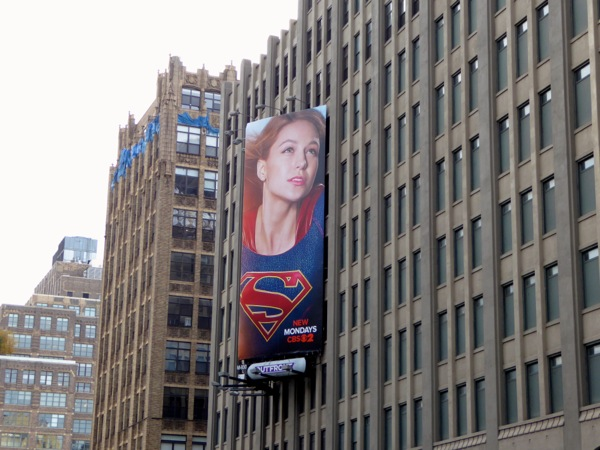 Supergirl series launch billboard NYC