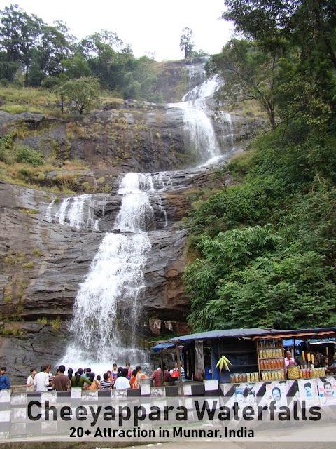 Munnar Attractions : Cheeyappara Waterfalls Munnar