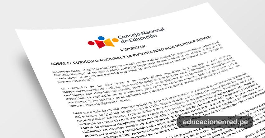 CNE: Sobre el Currículo Nacional y la próxima sentencia del Poder Judicial - www.cne.gob.pe