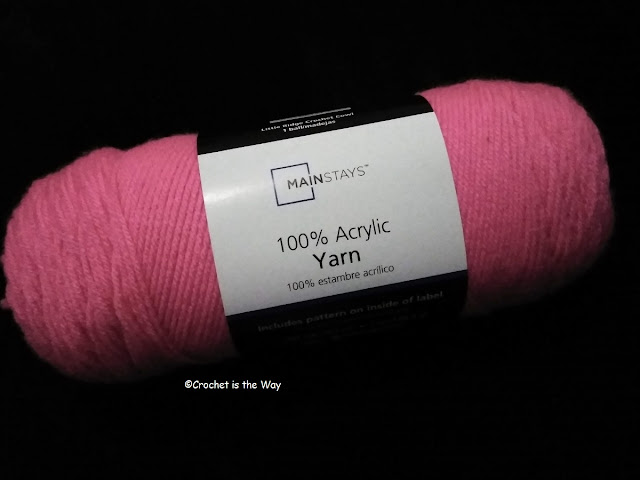crochet, yarn, Mainstays, acrylic, review, worsted weight